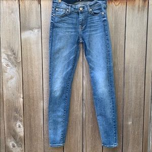 7 for all mankind, the skinny jeans, 28